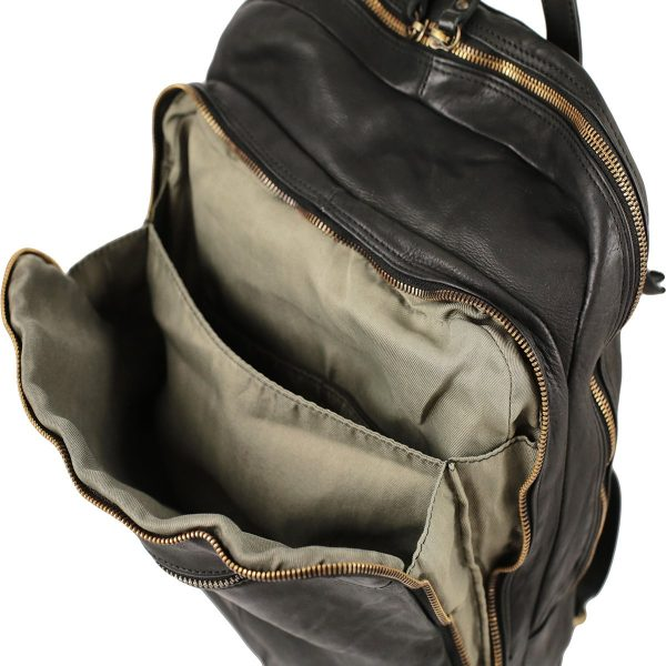Großer italienischer Leder rucksack Laptopfach Leder City rucksack