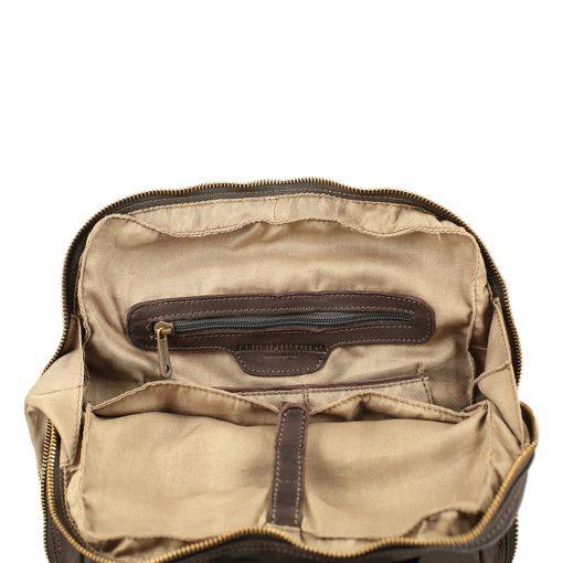 Großer italienischer Leder rucksack braune Farbe made in italy
