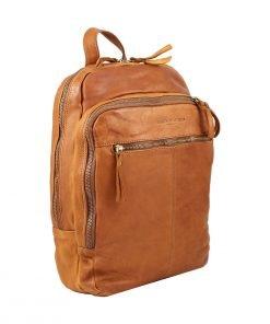 Großer italienischer Leder rucksack natürliche Farbe Business Rucksack