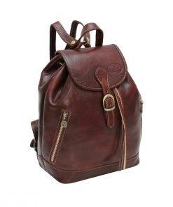 Großer leder rucksack Damen made in italy