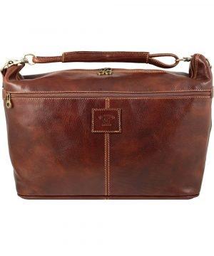 Handgepäck ledertasche braun
