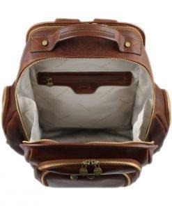 Herren Leder rucksack Innen Rucksack made in italy