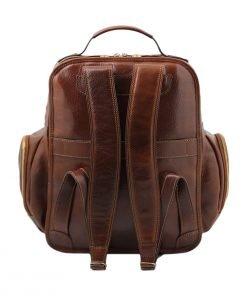 Herren Leder rucksack made in italy