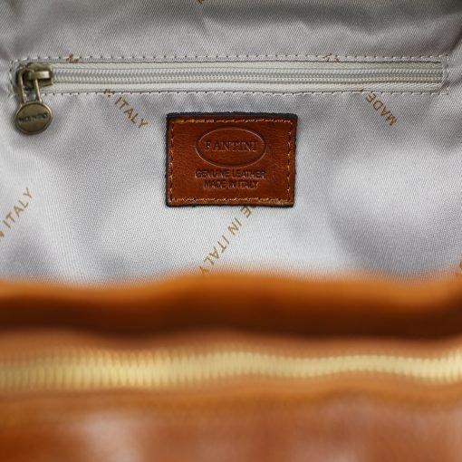 Italian Unisex Leder Rucksack honig Laptopfach Leder City rucksack