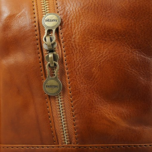 Italian Unisex Leder Rucksack honig leder rucksack herren