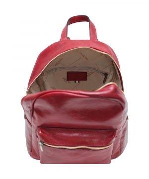 Italienische Mode Leder rucksack Innen Rucksack