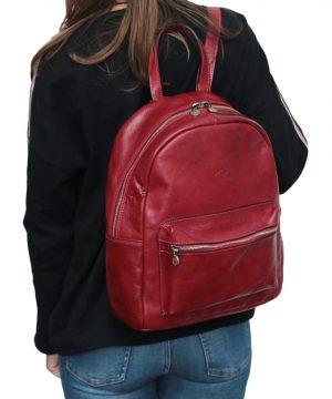 Italienische Mode Leder rucksack Outfit Mädchen