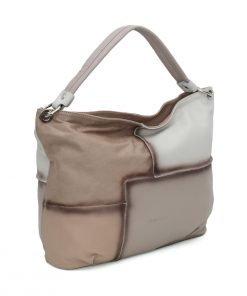 Italienische ledertaschen damen beige lederhandtasche