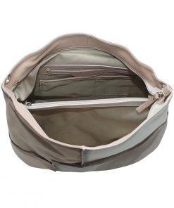 Italienische ledertaschen damen beige made in italy