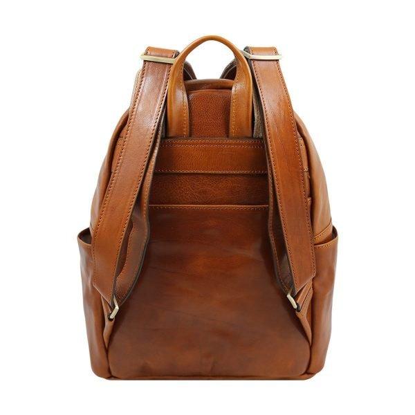 Laptopfach Leder City rucksack Made in Italy