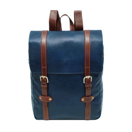 Leder Rucksack Urban blau