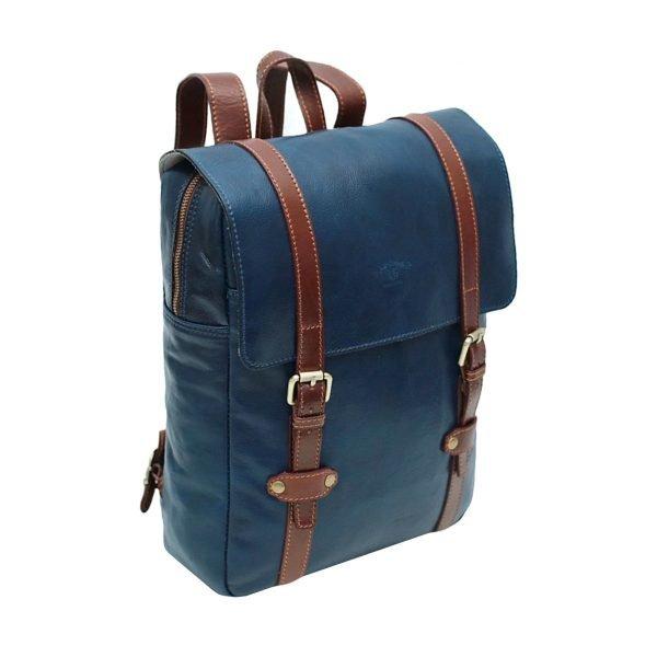 Leder Rucksack Urban blau Lederrucksack Laptop