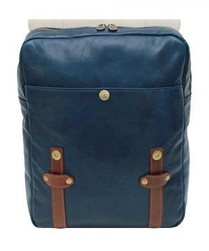 Leder Rucksack Urban blau rucksack lässig rucksack