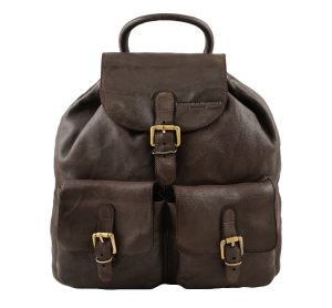 Leder rucksack damen braun