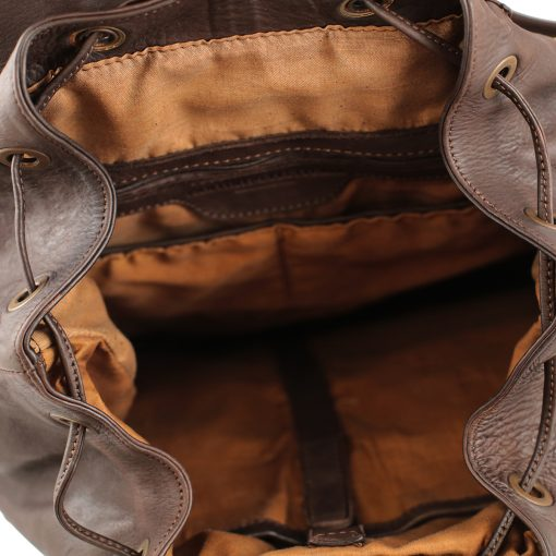 Leder rucksack damen braun echtes Leder