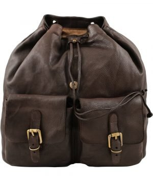 Leder rucksack damen braun italienische Mode