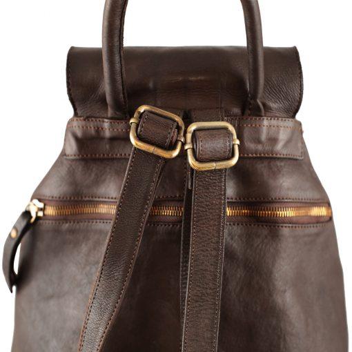 Leder rucksack damen braun made in ital