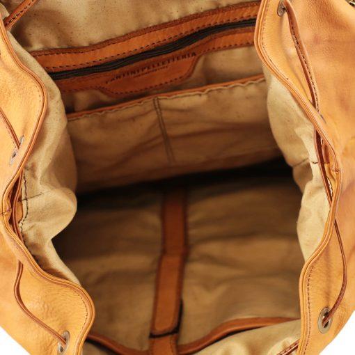 Leder rucksack damen natürliche