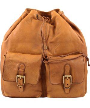 Leder rucksack damen natürliche italienische Mode