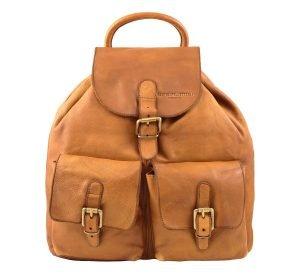 Leder rucksack damen natürliche italienisches design