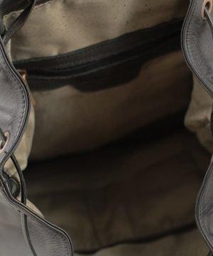 Leder rucksack damen schwarz echtes Leder