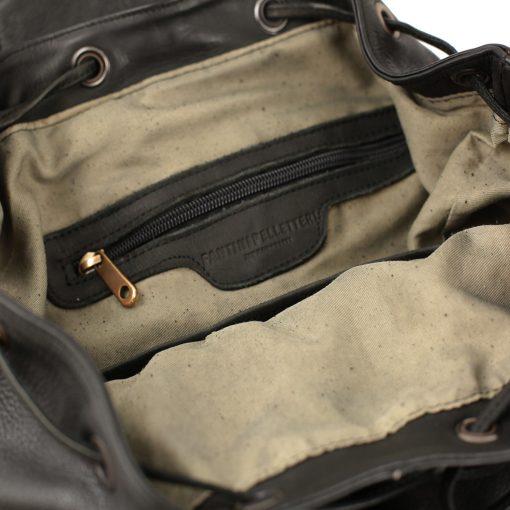 Leder rucksack damen schwarz fantini pelletteria