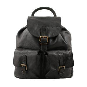 Leder rucksack damen schwarz italienisches design