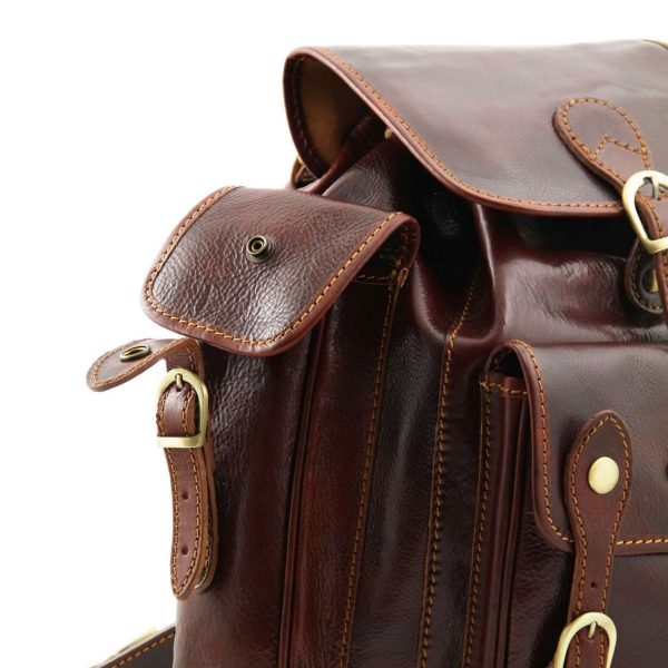 Leder rucksack unisex italy echtes Leder