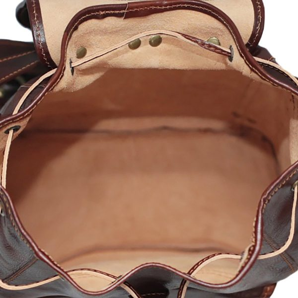 Leder rucksack unisex italy innen rucksack