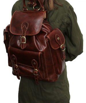 Leder rucksack unisex italy outfit mädchen