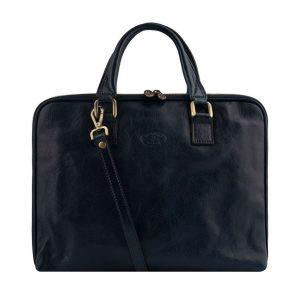 aktentasche aus leder umhängetasche laptoptasche vintage leder dunkelblau
