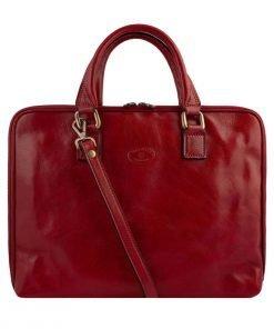 aktentasche aus leder umhängetasche laptoptasche vintage leder rot