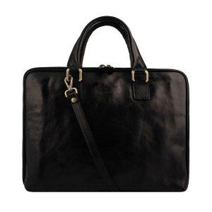 aktentasche aus leder umhängetasche laptoptasche vintage leder schwarz