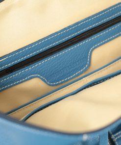 design italia leder rucksack damen blau