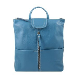 design italia lederrucksack damen blau fantini pelletteria