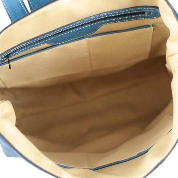design italia leder rucksack damen blau innen rucksack