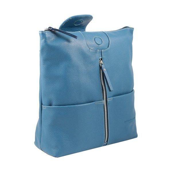 design italia lederrucksack damen blau italienisches design