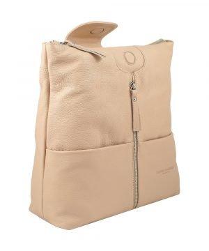 design italia lederrucksack damen rosa