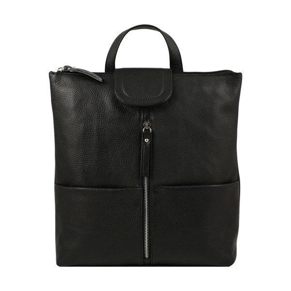 design italia leder rucksack damen schwarz