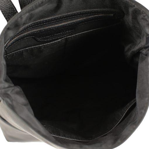 design italia leder rucksack damen schwarz Innen Rucksack