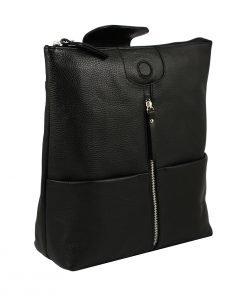 design italia lederrucksack damen schwarz echtes Leder