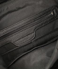 design italia lederrucksack damen schwarz fantini pelletteria