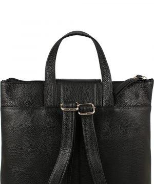 design italia leder rucksack damen schwarz made in italy