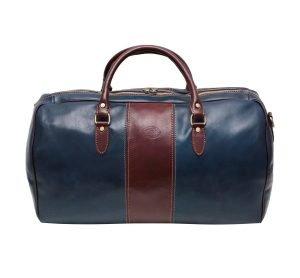 echtleder reißverschluss reisetasche vintage made in italy