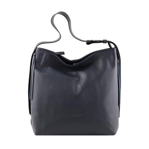 frauen tasche dunkelblau ledertasche frau ledertasche