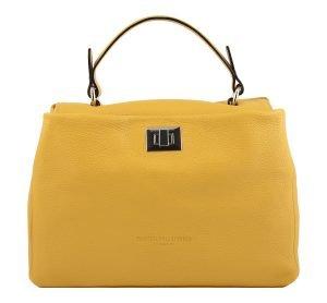gelb ledertasche damen shopper