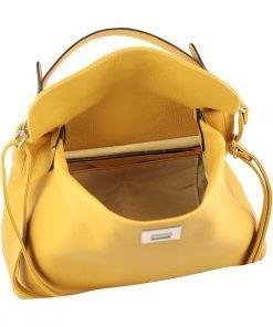gelb ledertasche damen shopper fantini pelletteria