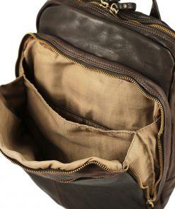 großer italienischer leder rucksack braune farbe Laptopfach Leder City rucksack