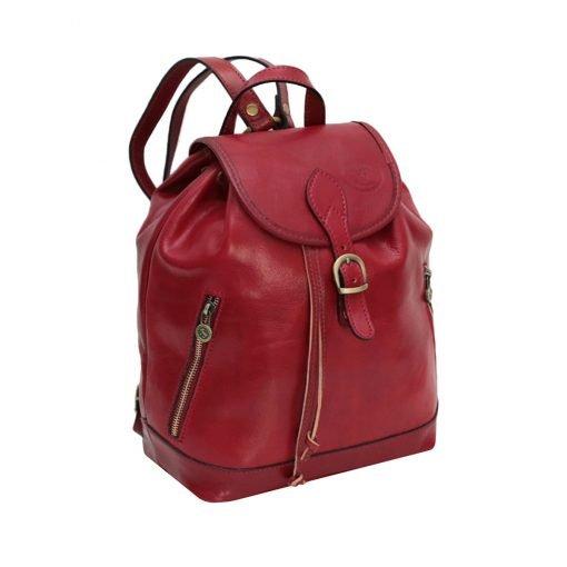 großer leder rucksack damen rot Italienisches Design