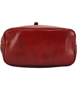 großer leder rucksack damen rot echtes Leder